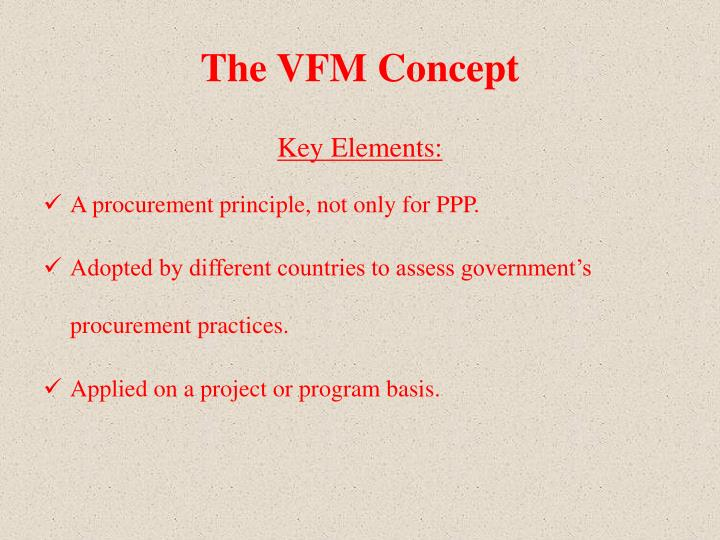 The VFM Concept
