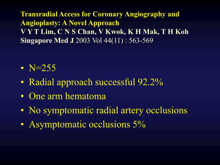 Transradial Access for Coronary Angiography and Angioplasty: A Novel Approach