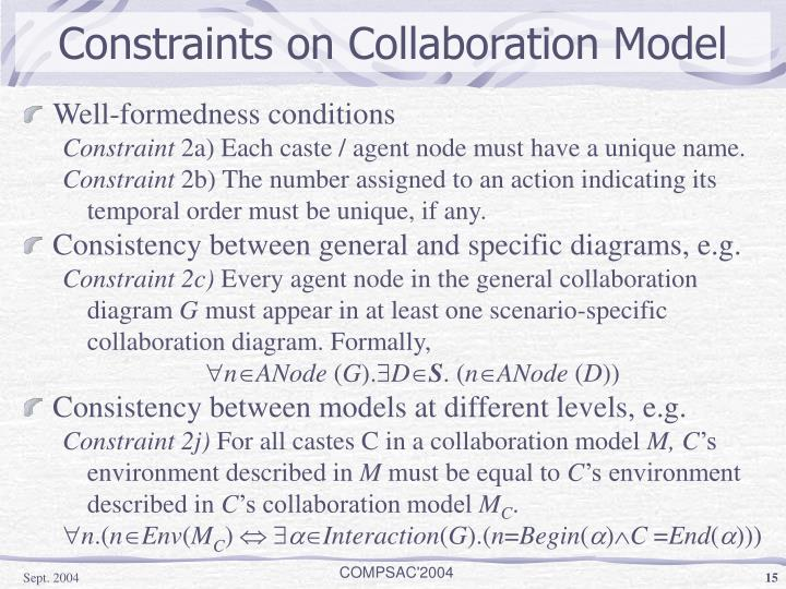 Constraints on Collaboration Model
