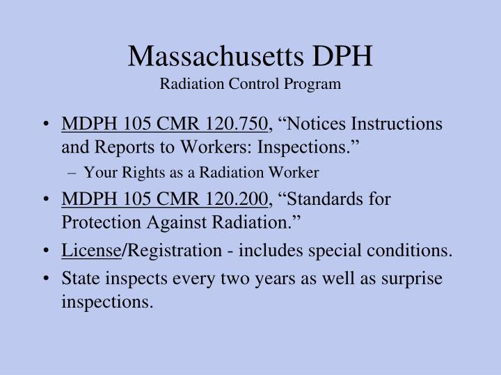 Massachusetts DPH