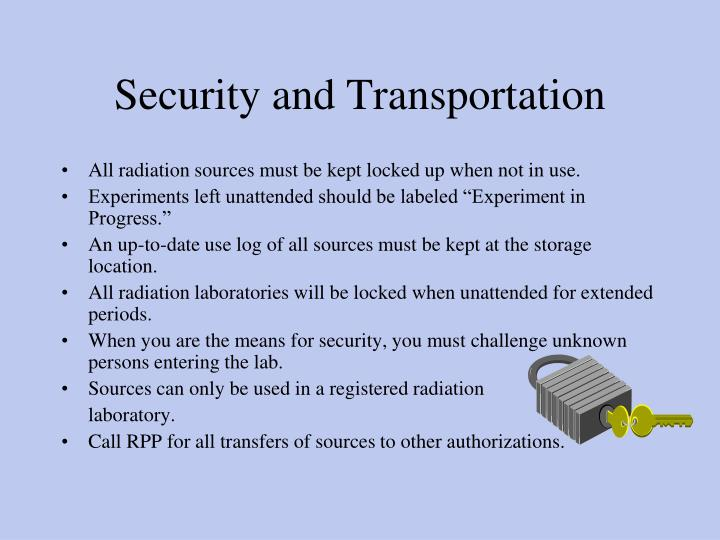 Security and Transportation