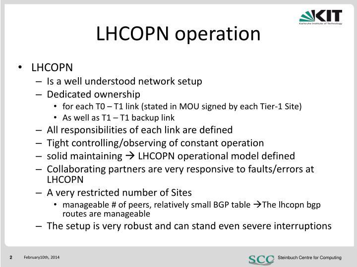 LHCOPN operation