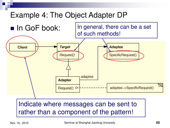 Example 4: The Object Adapter DP