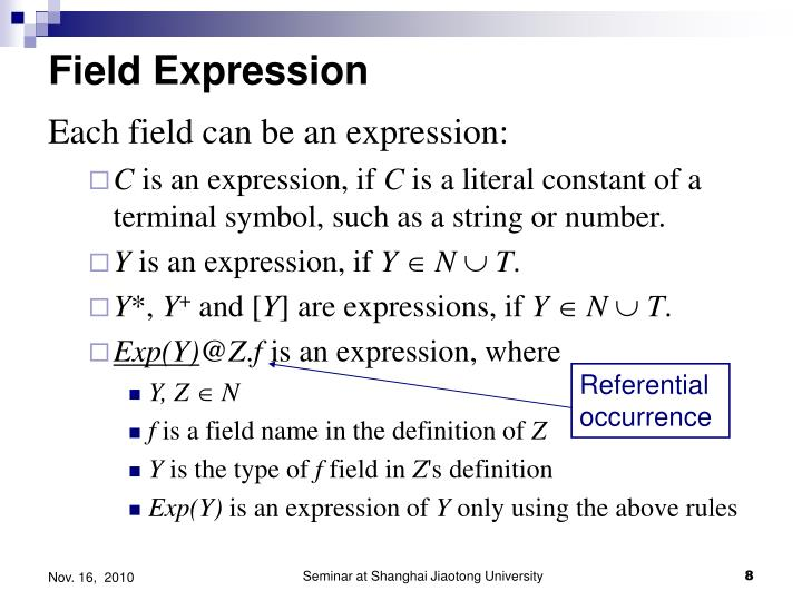 Field Expression
