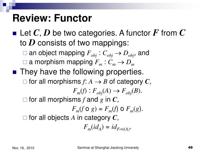 Review: Functor