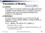translation of models