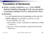 translation of sentences