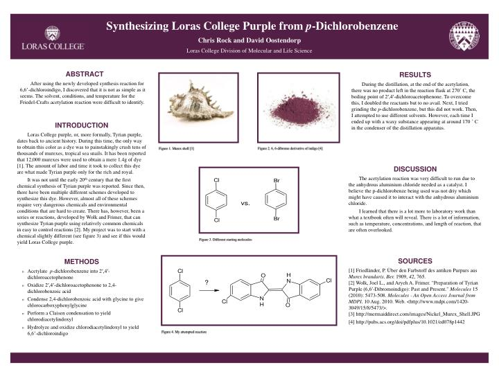 Synthesizing Loras College Purple from