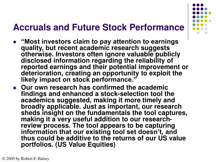 Accruals and Future Stock Performance