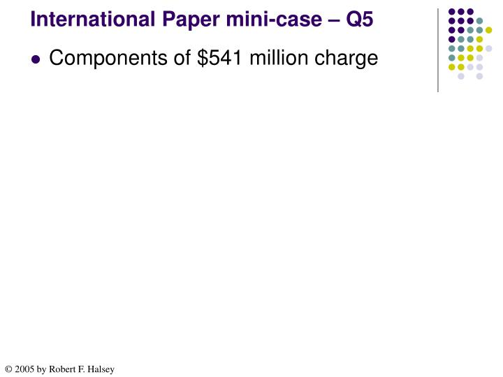 International Paper mini-case – Q5