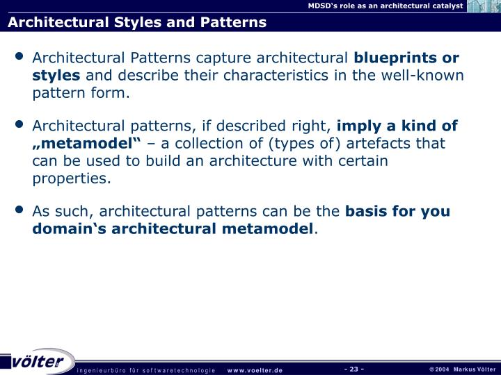 Architectural Styles and Patterns