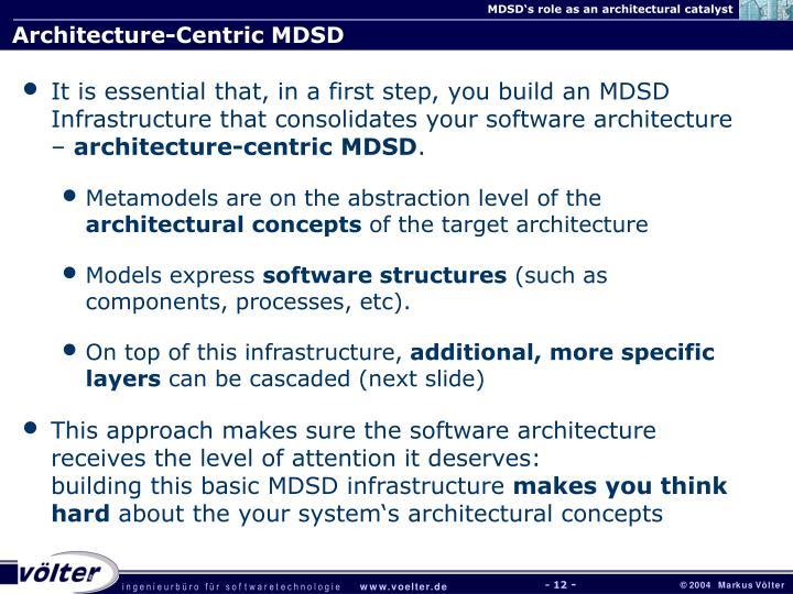 Architecture-Centric MDSD