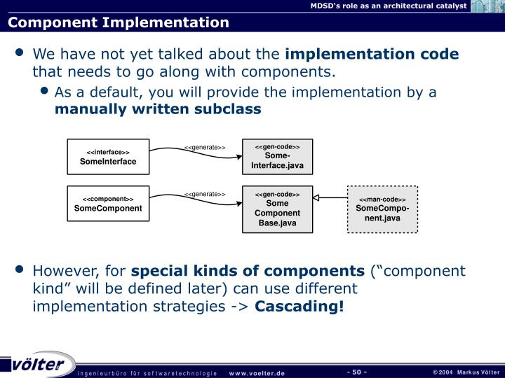 Component Implementation