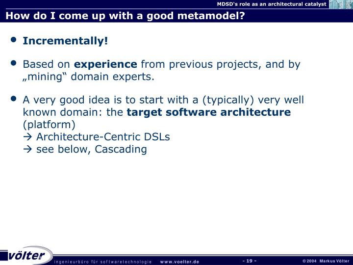 How do I come up with a good metamodel?