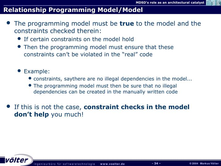 Relationship Programming Model/Model