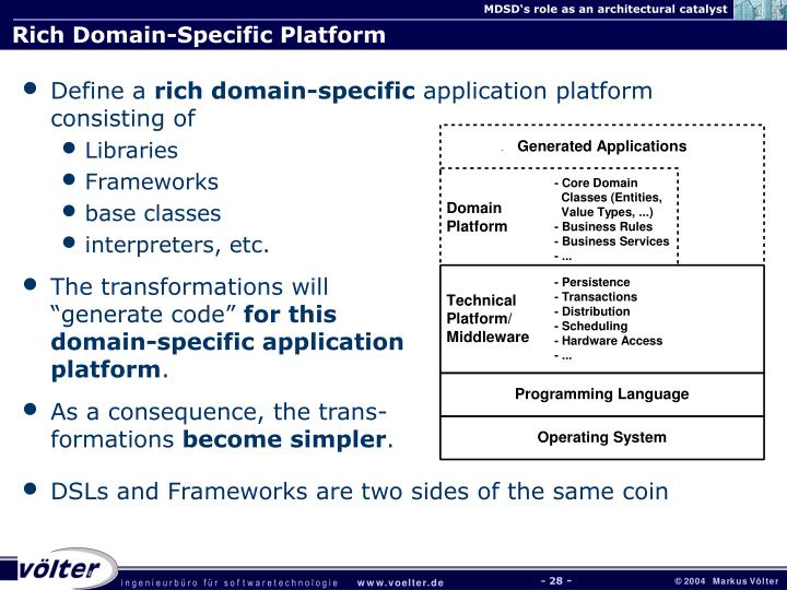 Rich Domain-Specific Platform
