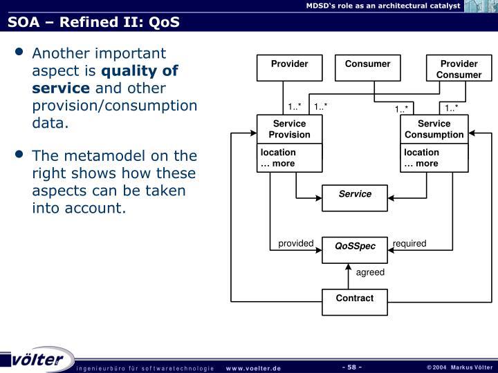 SOA – Refined II: QoS