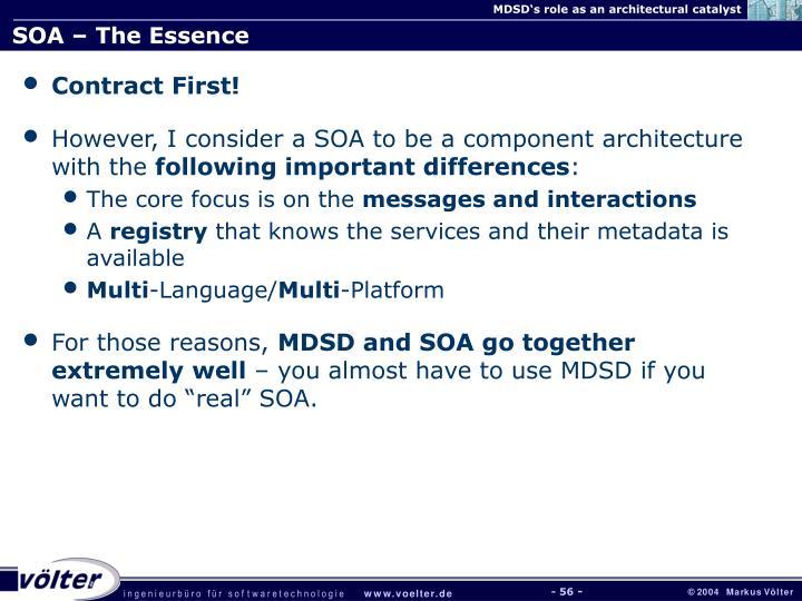 SOA – The Essence