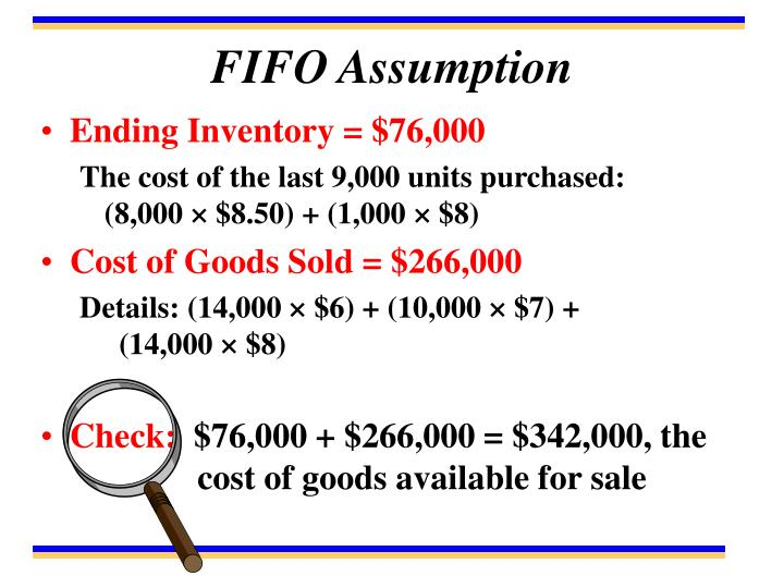FIFO Assumption
