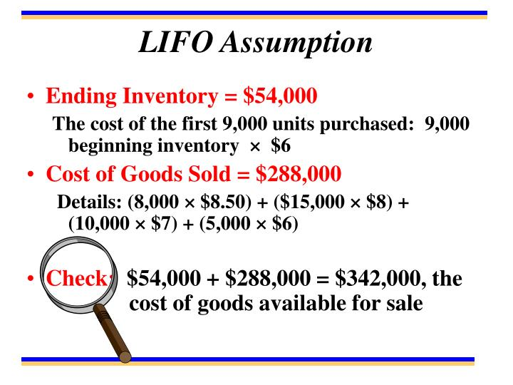 LIFO Assumption