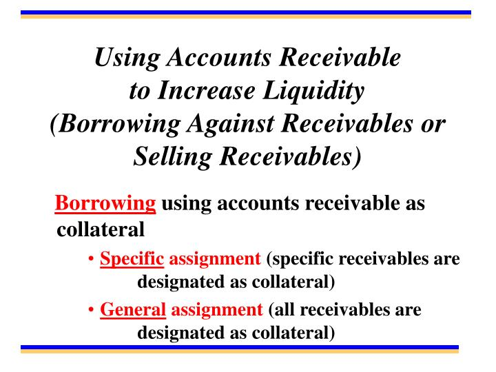 Using Accounts Receivable