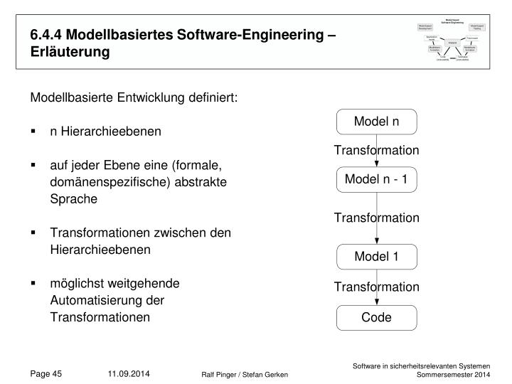 6.4.4 Modellbasiertes Software-Engineering – Erläuterung