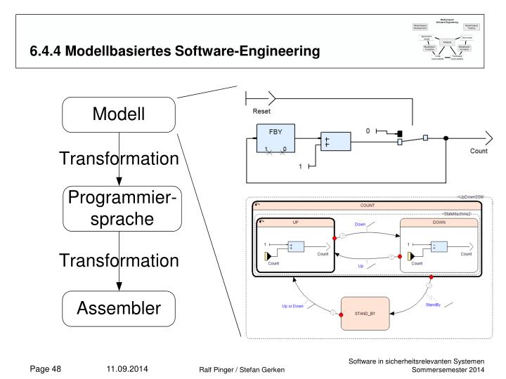 6.4.4 Modellbasiertes Software-Engineering