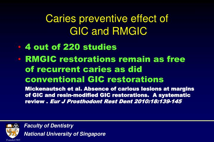 Caries preventive effect of