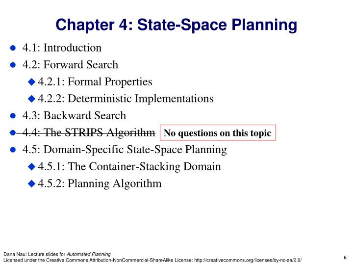 Chapter 4: State-Space Planning