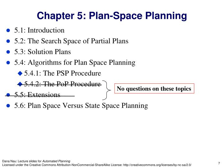 Chapter 5: Plan-Space Planning