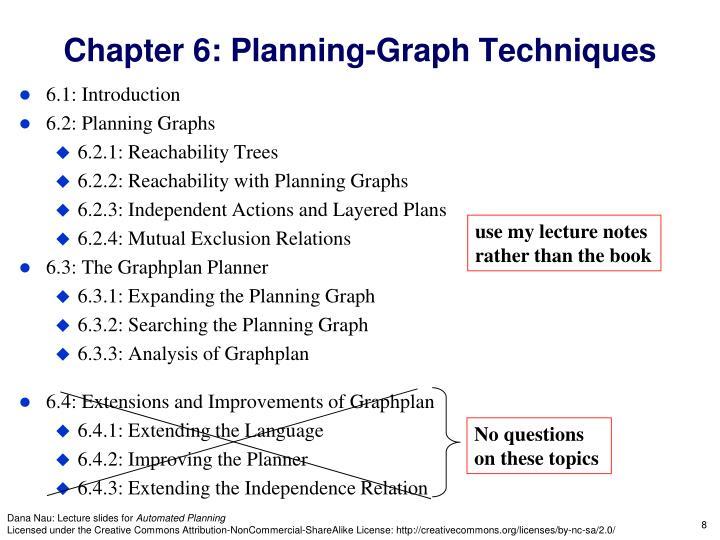 Chapter 6: Planning-Graph Techniques
