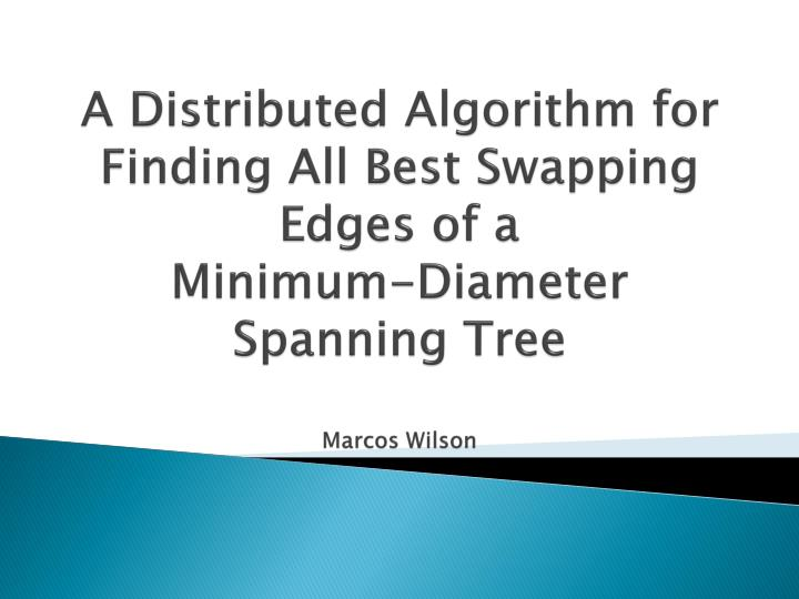 A Distributed Algorithm for