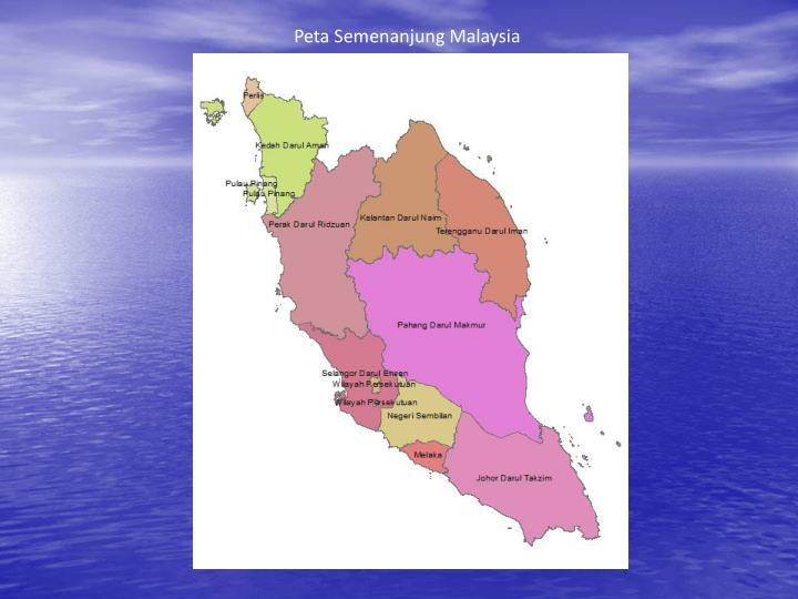 Peta Semenanjung Malaysia