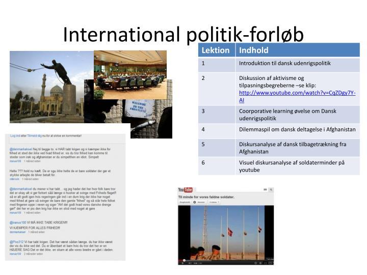 International politik-forløb