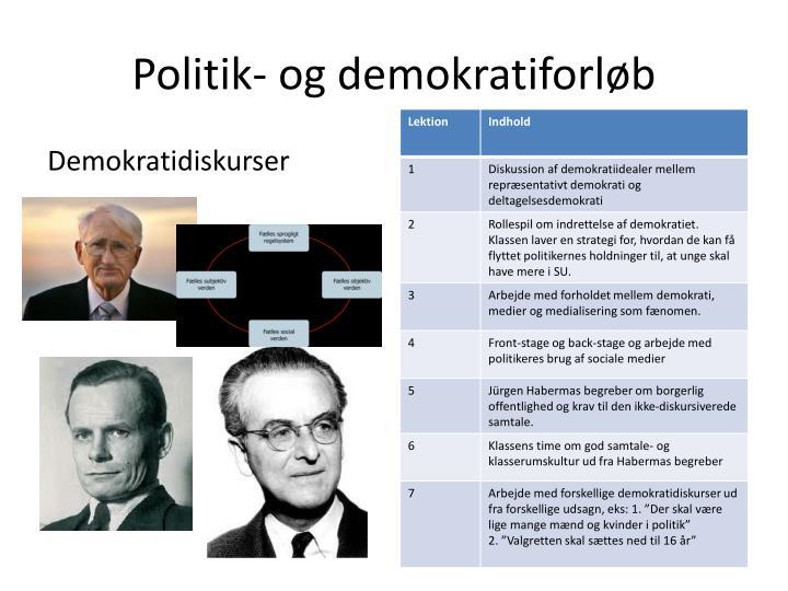 Politik- og demokratiforløb