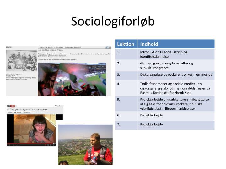 Sociologiforløb