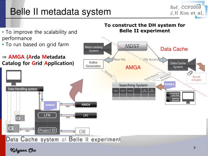 Belle II metadata system