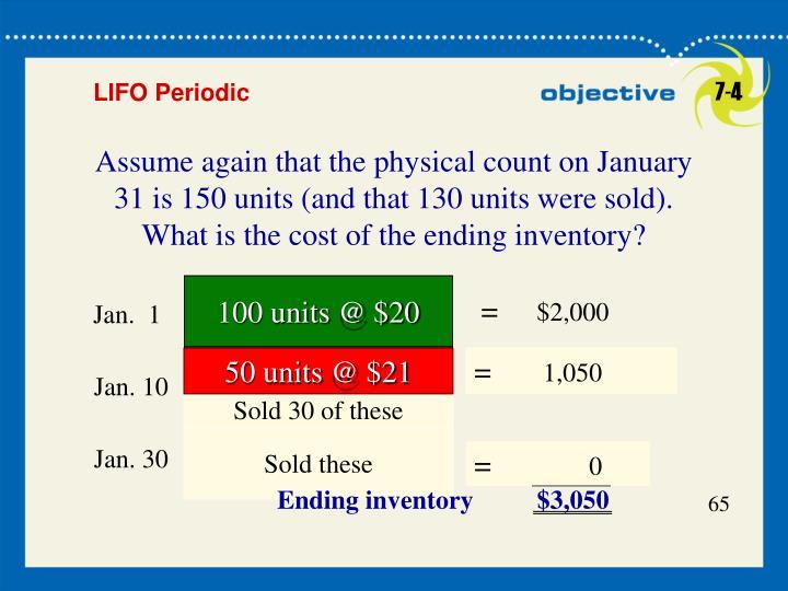 100 units @ $20