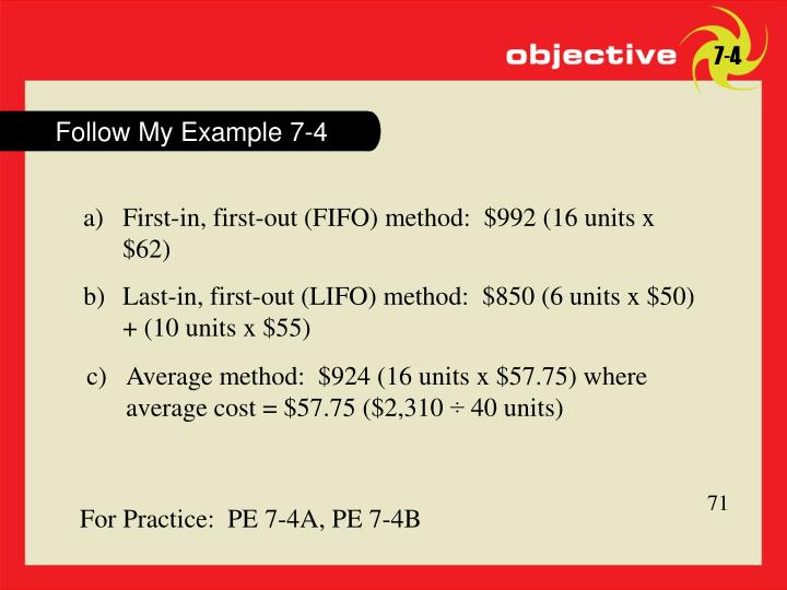 Follow My Example 7-4