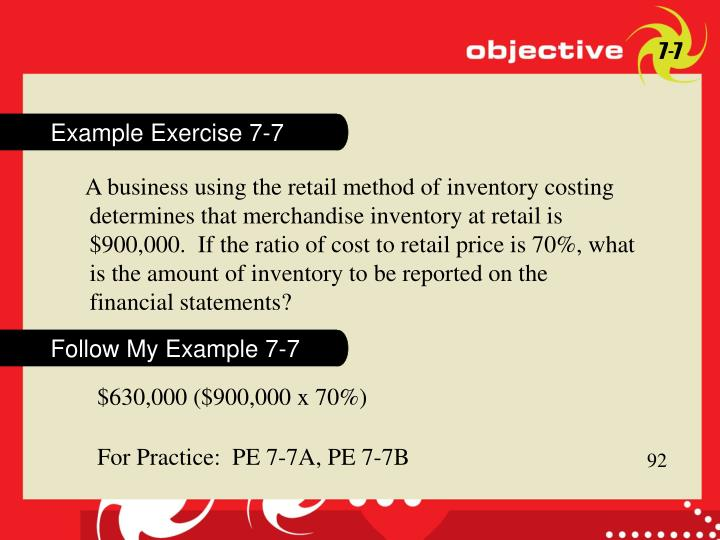 Example Exercise 7-7