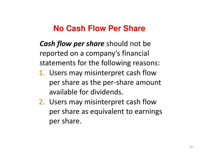 No Cash Flow Per Share
