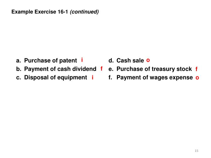 Example Exercise 16-1
