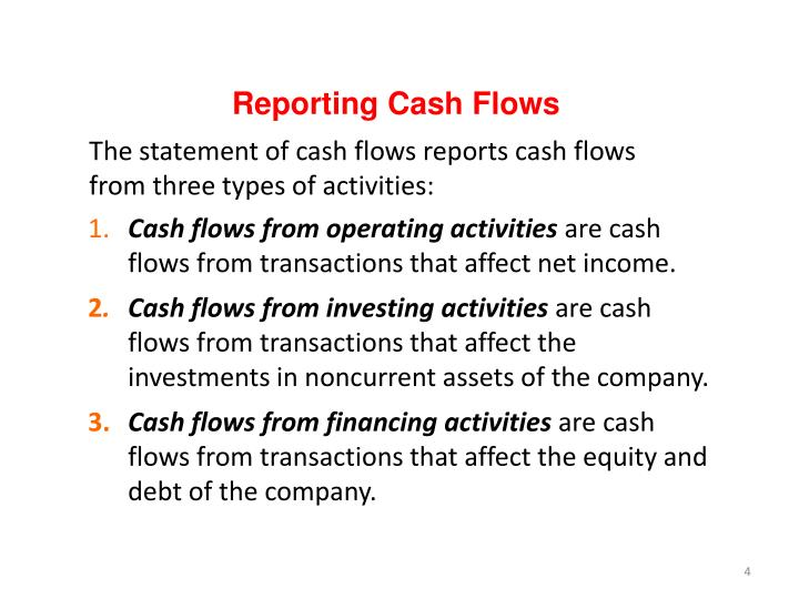 Reporting Cash Flows