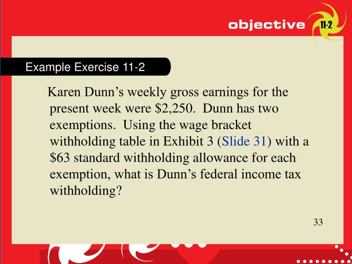 Example Exercise 11-2