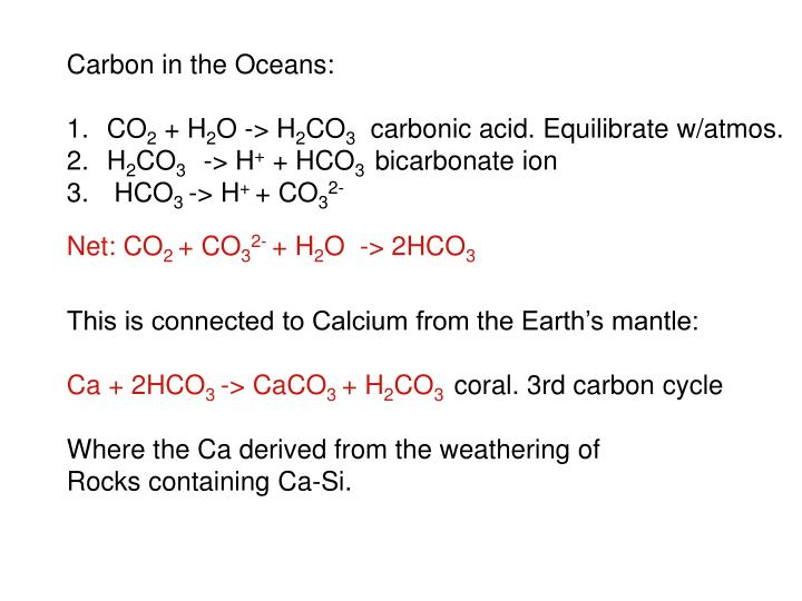 Carbon in the Oceans: