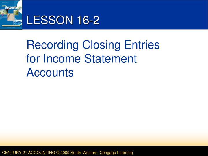LESSON 16-2