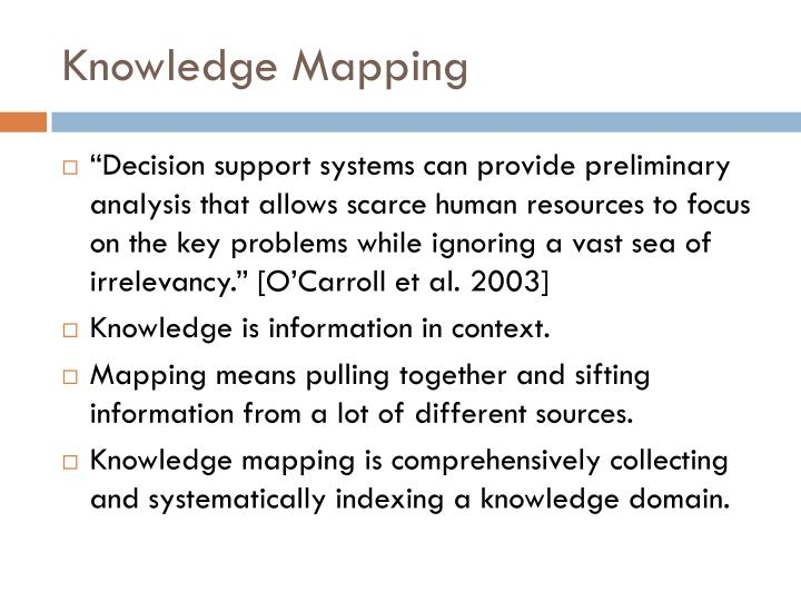 Knowledge Mapping