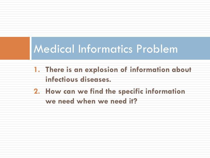 Medical Informatics Problem