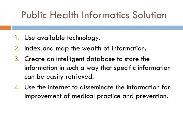 Public Health Informatics Solution