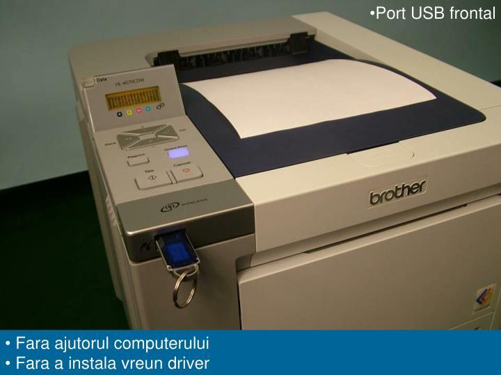 Port USB frontal